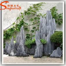 stylize artificial large river slate rock stones white rocks