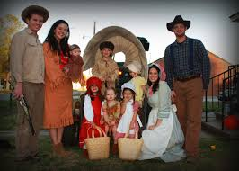 family halloween costumes for 3 ingalls family costumes