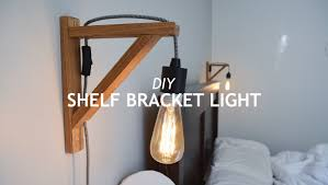 How To Build Wood Shelf Supports by Diy Shelf Bracket Light Youtube