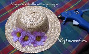 Easter Hat To Decorate by Karen Mom Of Three U0027s Craft Blog Make An Easter Bonnet For Your Doll