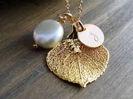 real leaf necklace images Gold leaf necklace aspen leaf necklace real leaf jewelry initial jpg