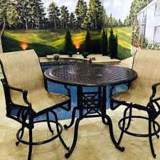 Bar Height Patio Chair High Patio Chairs For Fall River 3 Bar Height Patio 65