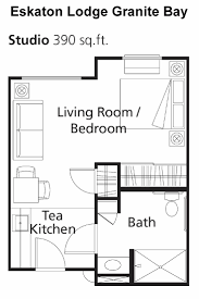 independent living and assisted living for seniors in granite bay 390 square feet studio floor plan for eskaton lodge granite bay