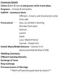 wedding ceremony timeline how do i create a timeline for my wedding day this city