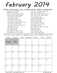 printable february 2014 calendars favorites