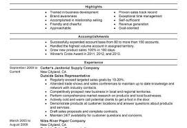 sales representative resume examples unforgettable outside sales