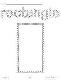 free rectangle q tip painting printable rectangle worksheet