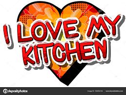 j aime ma cuisine j aime ma cuisine mot de la bande dessinée image vectorielle
