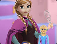 anna cooking frozen cake cooking games