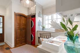 Laundry Room Curtain Decor Laundry Room Curtains As A Trick To Wonderful Clutter Free Space