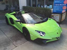 first lamborghini lamborghini aventador sv roadster hits oz splash car wash