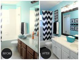 Painting A Bathroom Vanity Before And After by Oak Painted Kitchen Cabinets Painted White With Blue Walls Before