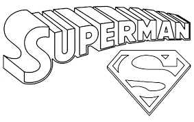 Logo Coloring Pages Superman Coloring Pages Print