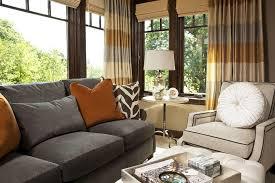 grey and orange living room contemporary with tan sofa black