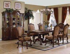 elegant formal dining room furniture dark cherry finish vendome