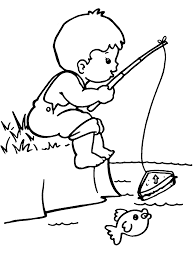 fisherman boy coloring page coloring pages 12309 bestofcoloring com