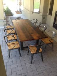 Teak Patio Flooring by Chair Teak Outdoor Round Dining Table Set With Stacking Chairs