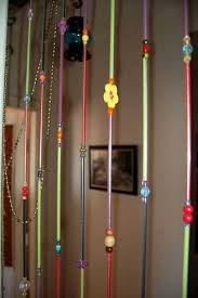 how to make driniking straw spiral hanging ideas