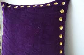 Shop for handmade purple velvet throw pillow with gold sequin