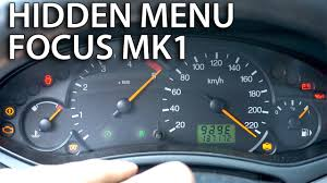 2013 ford focus check engine light ford focus mk1 hidden menu mr fix info