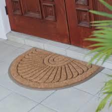 Coir And Rubber Doormat Brown U0026 Tan Semi Circle Door Mats You U0027ll Love Wayfair