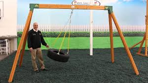 Backyard Swing Plans by Wooden A Frame Swing Sets Youtube