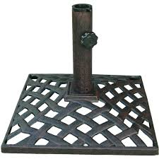 Patio Umbrella And Base Darlee Basket Weave Cast Iron Patio Umbrella Base Ultimate Patio