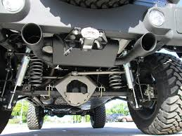jeep wrangler exhaust systems gibson fortec exclusive cat black dual exhaust system for 07 up