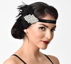 rhinestone headband unique vintage uv black coque feather silver rhinestone headband