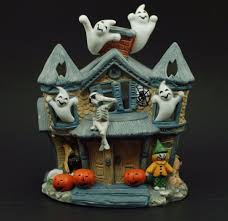 partylite halloween pumpkin patch tealight candle house retired