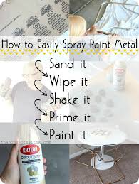 Paint Metal Bed Frame Chrome Chairs Go Gold A Table How To Spray Paint Metal