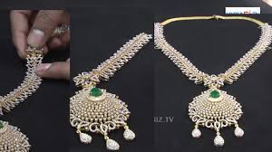 jewelry gold diamond necklace images Detachable gold diamonds long haram malabar gold and diamonds jpg