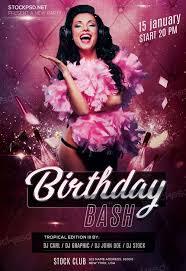 free birthday bash flyer templates download the best free birthday