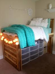 Loft Bed Plans Free Dorm by 10 Easy Ways To Save Space In Your Dorm Room College Room White