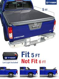 nissan frontier bed length amazon com tyger auto tg bc3n1028 tri fold pickup tonneau cover