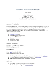 sales associate resume resume sle retail experience copy retail sales associate resume