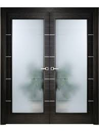 interior doors italian made homes modern interior double door italian black apricot with frosted glass