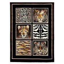 Animal Area Rugs Donnieann Animal Print Area Rugs Rugs The Home Depot