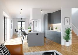 Grey Kitchens by Grey Cabinet Microwave Hardwood Floor Grey Panelled Kitchen