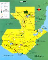 Guatemala World Map tourist map of guatemala