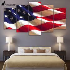 American Flag Living Room by Aliexpress Com Buy Hd Printed 5 Piece Canvas Art American Flag
