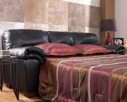 Leather Sleeper Sofa Ashley Black Leather Full Sleeper Sofa Review