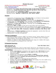 Web Developer Resume Examples by Sample Java Developer Resume Updated Shubham Goswami Email