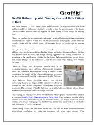 graffiti bathware provide sanitaryware and bath fittings in delhi