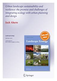 urban landscape sustainability and resilience the promise and