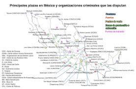 organized crime borderland beat plazas of organized crime narco plaza map