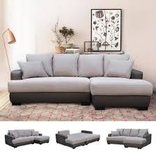 canapé lit d angle canapé d angle droit canapé lit convertible avec coffre en tissu