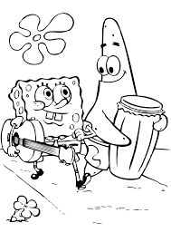 coloring picture of spongebob squarepants simple with best of