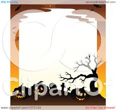 graveyard clipart clipart spooky jackolantern cemetery frame with white space