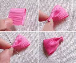 how to make baby hair bands how to make baby ribbon hair ties how to make a ribbon hair bow